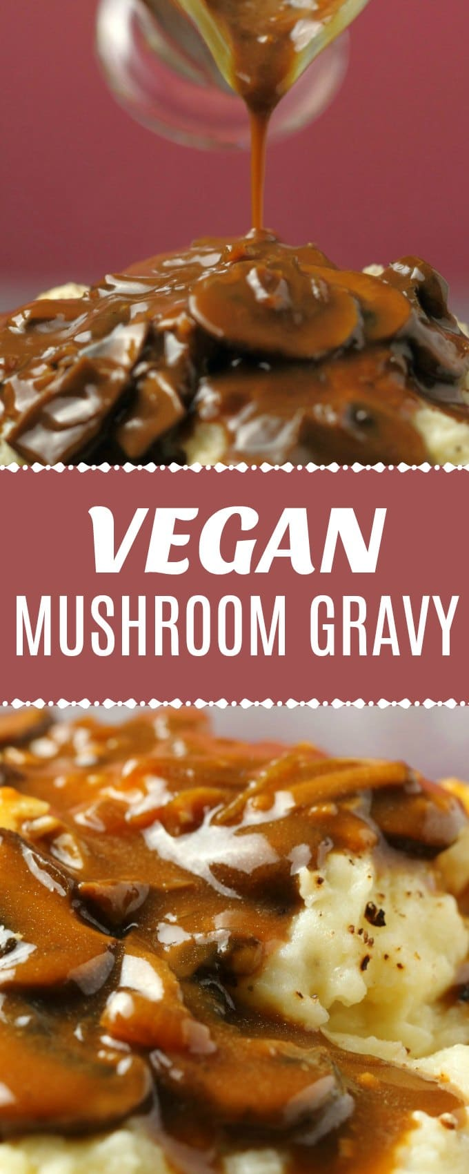 This vegan mushroom gravy is packed with mushroom flavor and totally divine poured over absolutely everything. Rich, creamy and perfect. | lovingitvegan.com