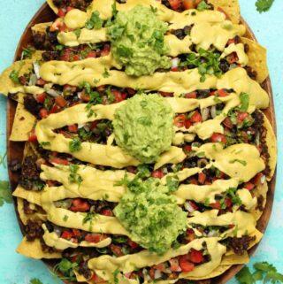 Fully loaded vegan nachos