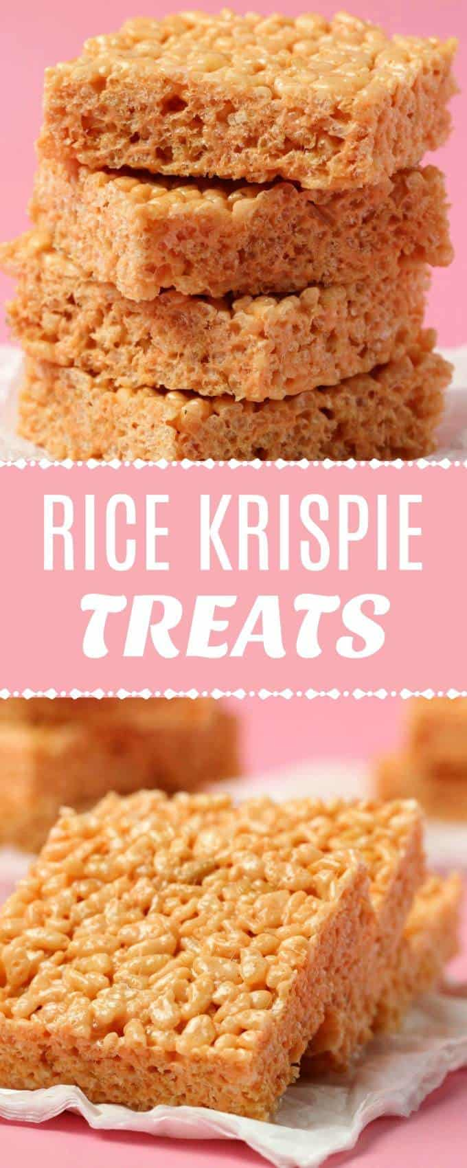 Fabulously crispy vegan rice krispie treats made with vegan marshmallows! Perfectly sweet and simple 4-ingredient recipe. Ready in 10 minutes! | lovingitvegan.com