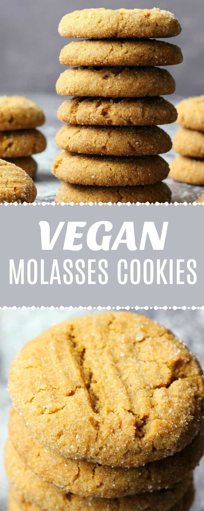 Vegan molasses cookies that are wonderfully soft and chewy, deliciously spiced with perfect molasses flavor. Super easy recipe and an ideal holiday cookie! | lovingitvegan.com