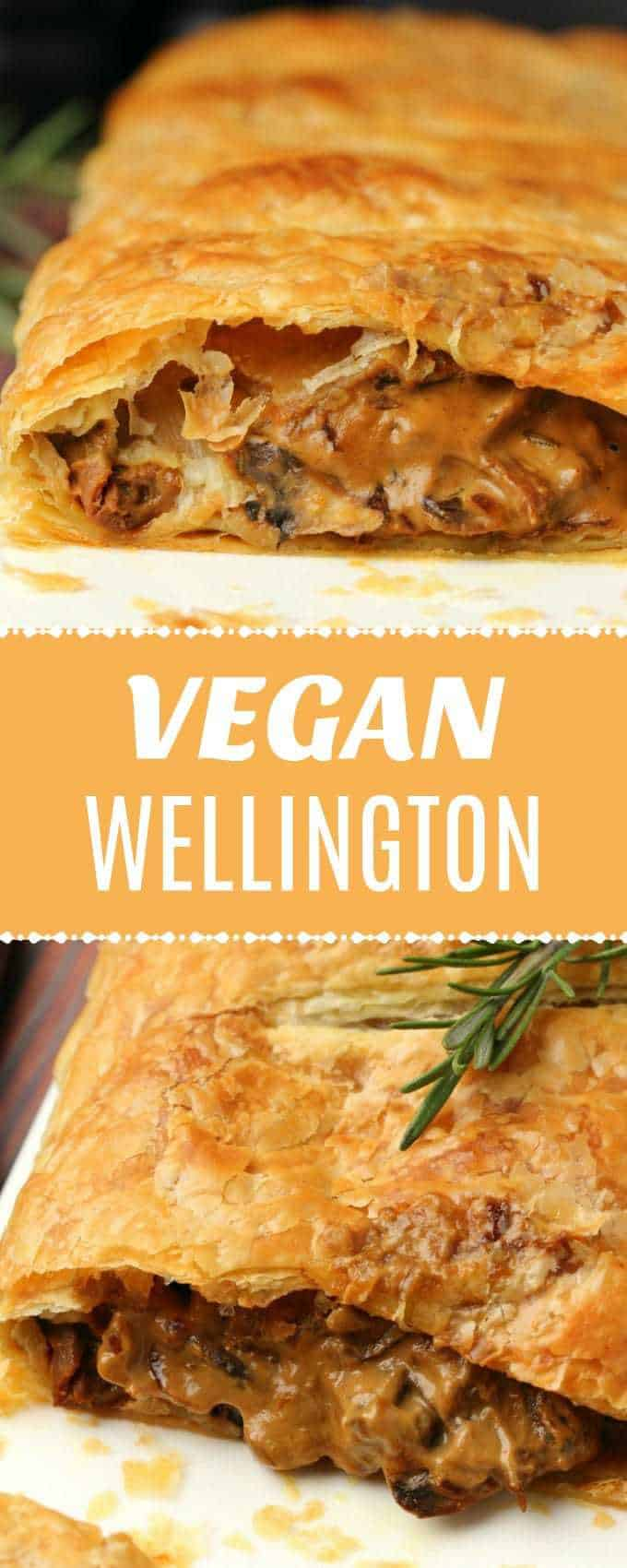 This vegan wellington is perfect for a special occasion. Creamy mushroom sauce wrapped in deliciously flaky puff pastry. Simple and gorgeous. | lovingitvegan.com