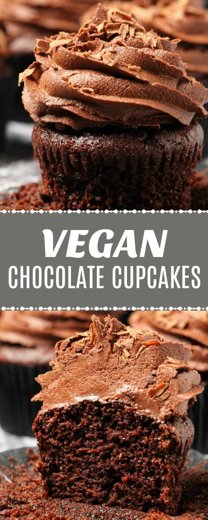 Classic vegan chocolate cupcakes topped with the smoothest, silkiest vegan chocolate buttercream and chocolate shavings. Moist, fluffy and mega-chocolatey. The perfect vegan chocolate cupcake recipe.   lovingitvegan.com