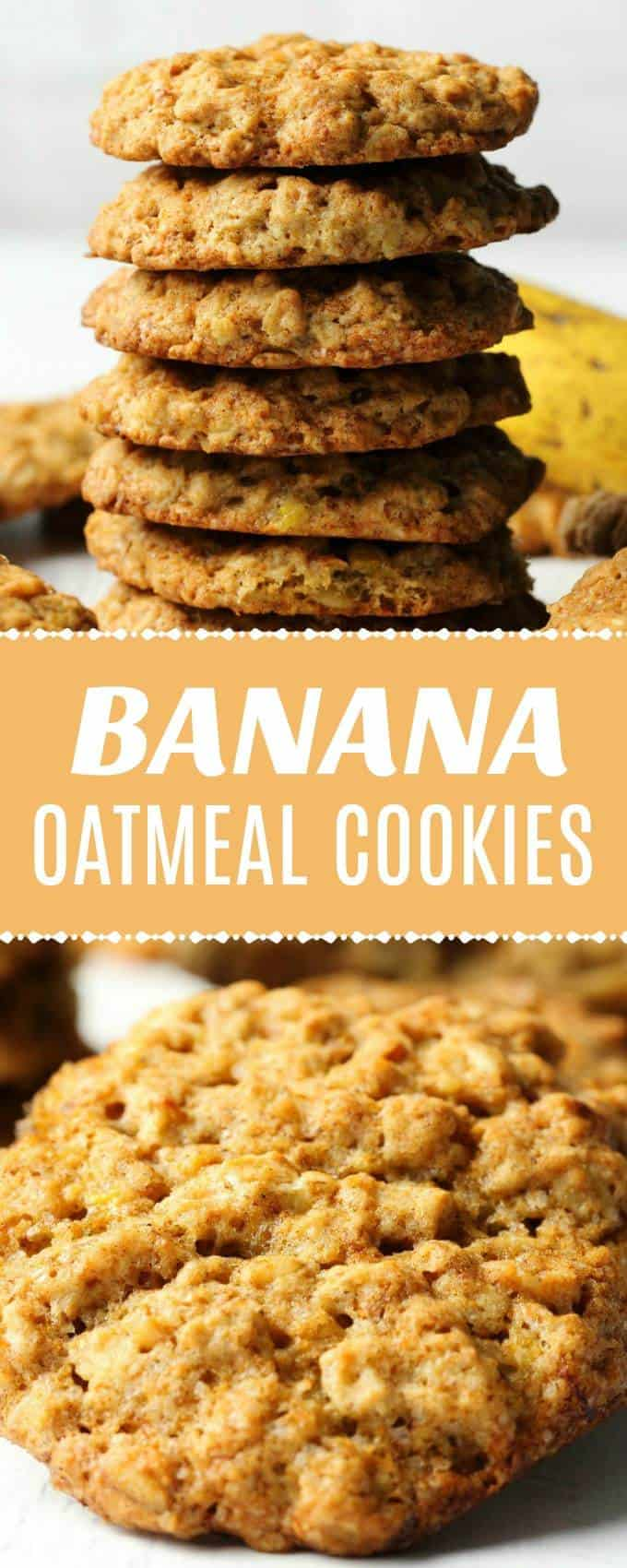 Vegan banana oatmeal cookies that are soft and chewy and packed with banana flavor. These cookies are simple and ideal for either breakfast or dessert. #vegan #vegancookies #dairyfree #veganrecipes  lovingitvegan.com