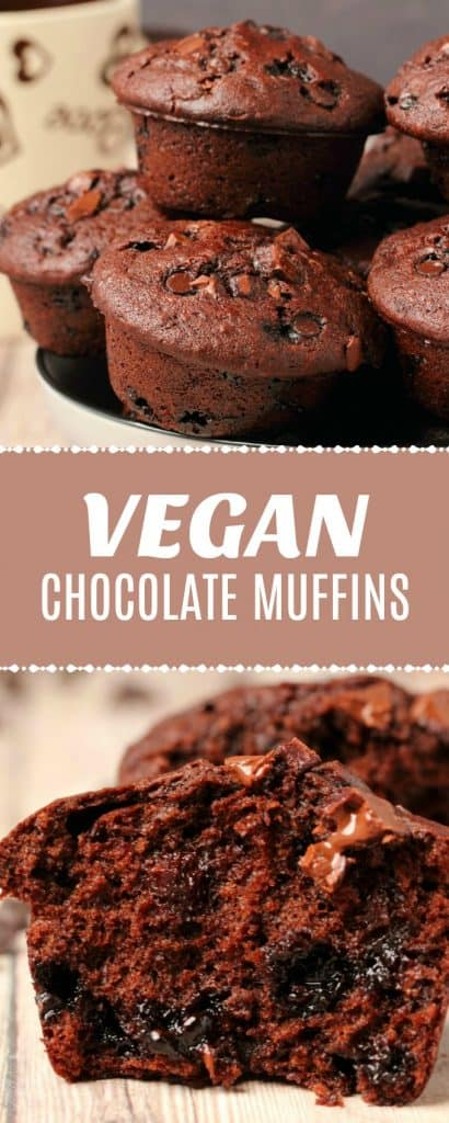 Vegan chocolate muffins