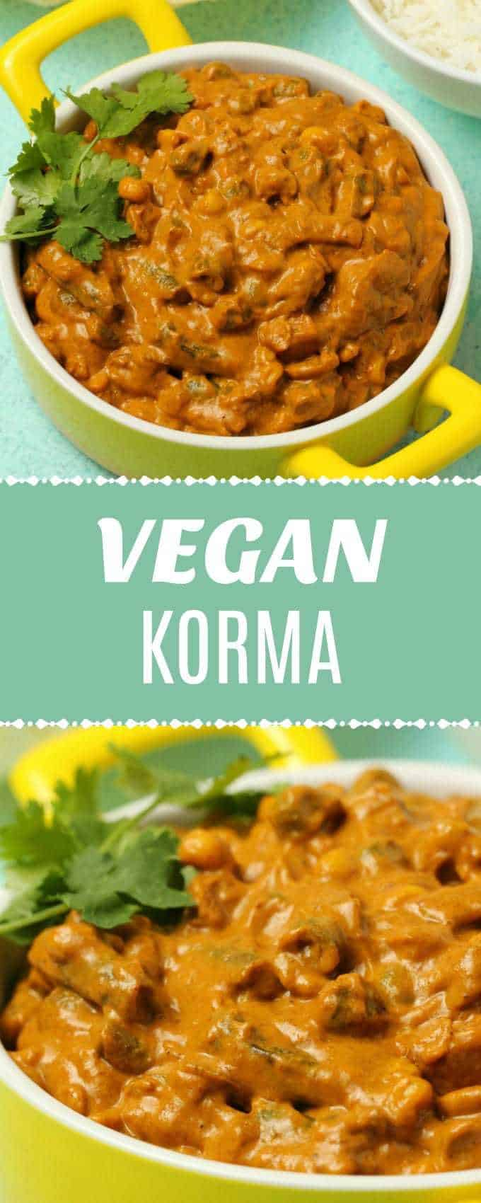 Super easy vegan korma ready in 30 minutes! A delicious blend of vegetables and spices in a creamy and rich korma sauce. Gluten-Free. | lovingitvegan.com
