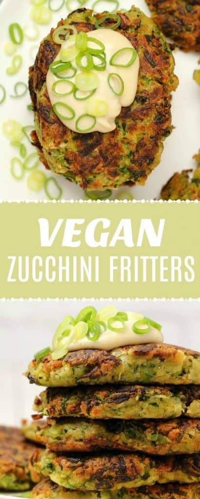 Vegan zucchini fritters