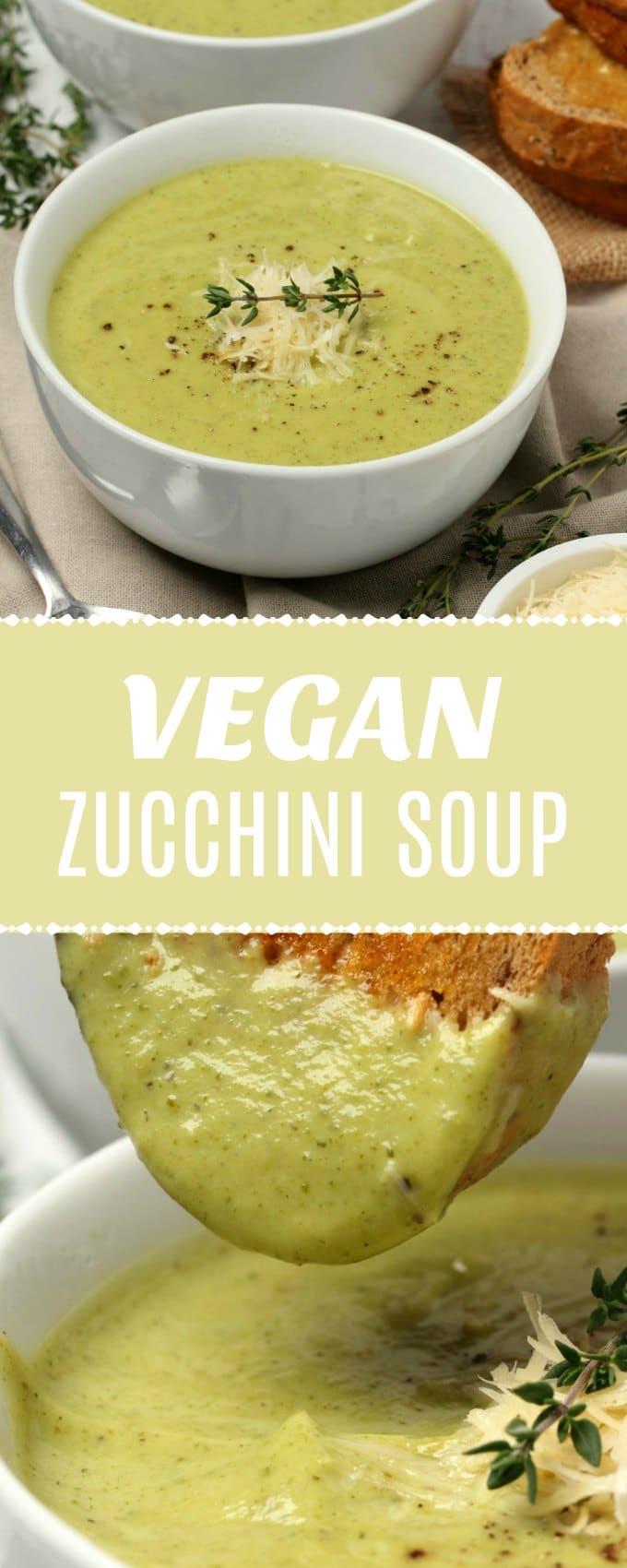 Ultra creamy vegan zucchini soup. This simple 9-ingredient recipe is ready in 30 minutes and crazy delicious. It's also gluten-free.#vegan #dairyfree #glutenfree #soup | lovingitvegan.com