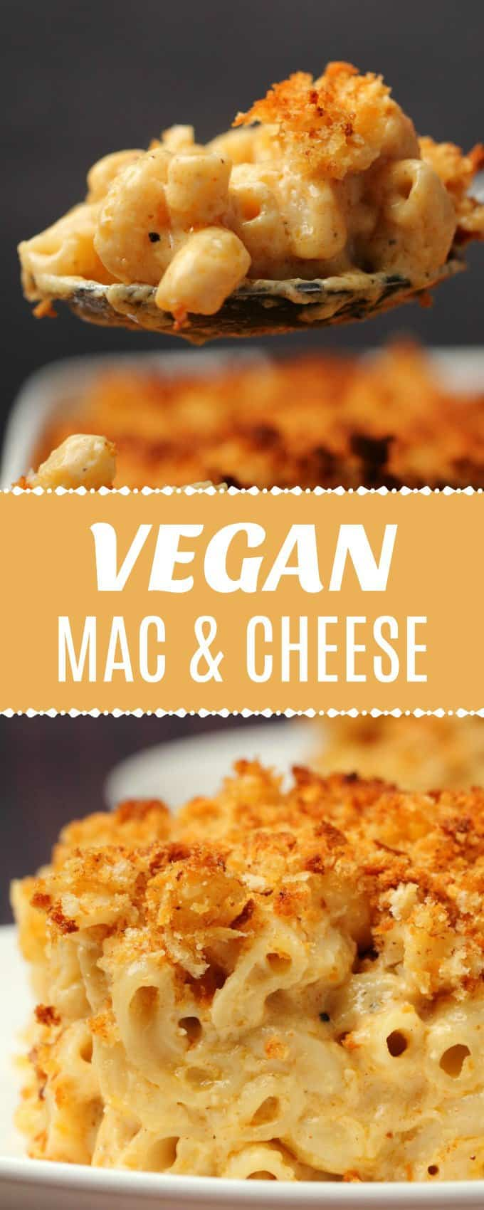 This classic vegan mac and cheese is ultra cheesy, saucy and creamy. Topped with breadcrumbs and baked until golden brown and crispy. Seriously satisfying.#vegan #dairyfree | lovingitvegan.com