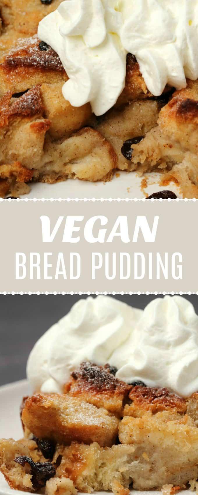 Vegan bread pudding