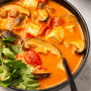 Vegan tom yum soup