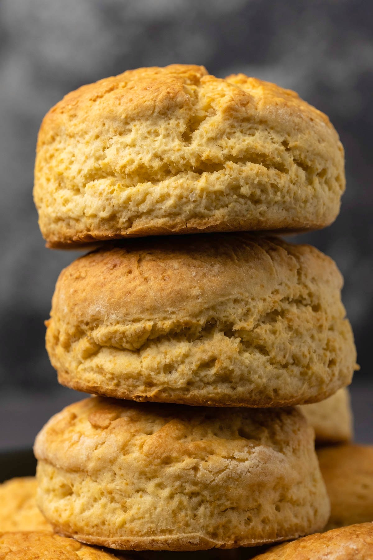 Vegan biscuits in a stack.