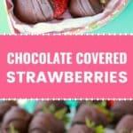 Vegan chocolate covered strawberries