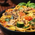 Vegetable linguine