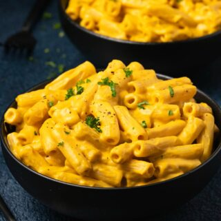 Vegan butternut squash mac and cheese
