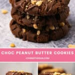 Vegan Chocolate Peanut Butter Cookies
