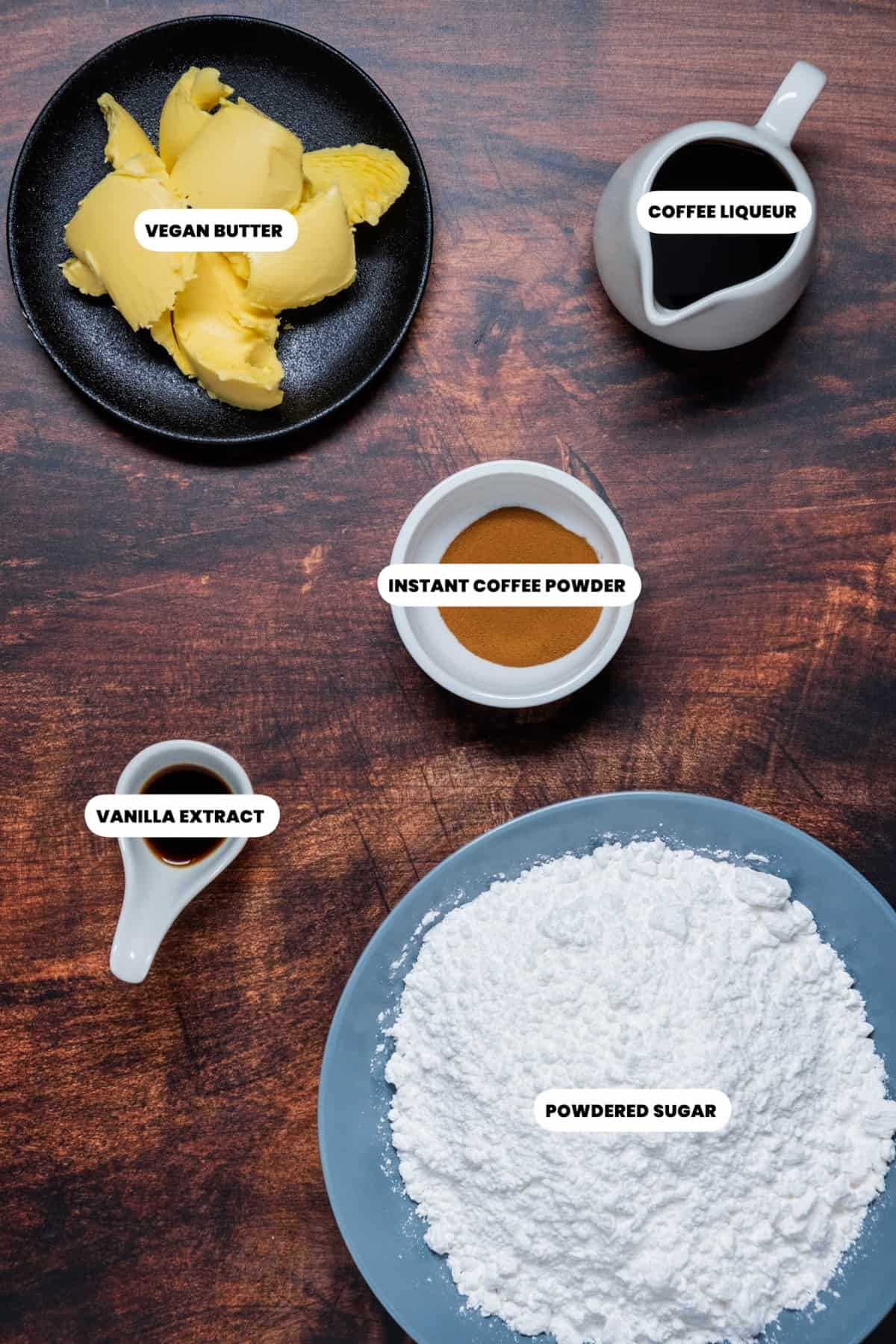 Photo of ingredients for frosting.