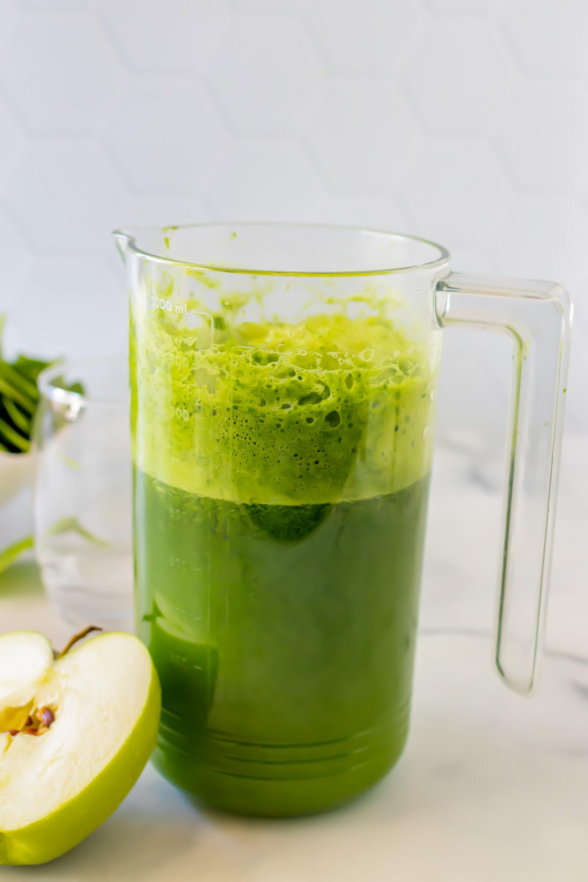 Green juice in a jug.