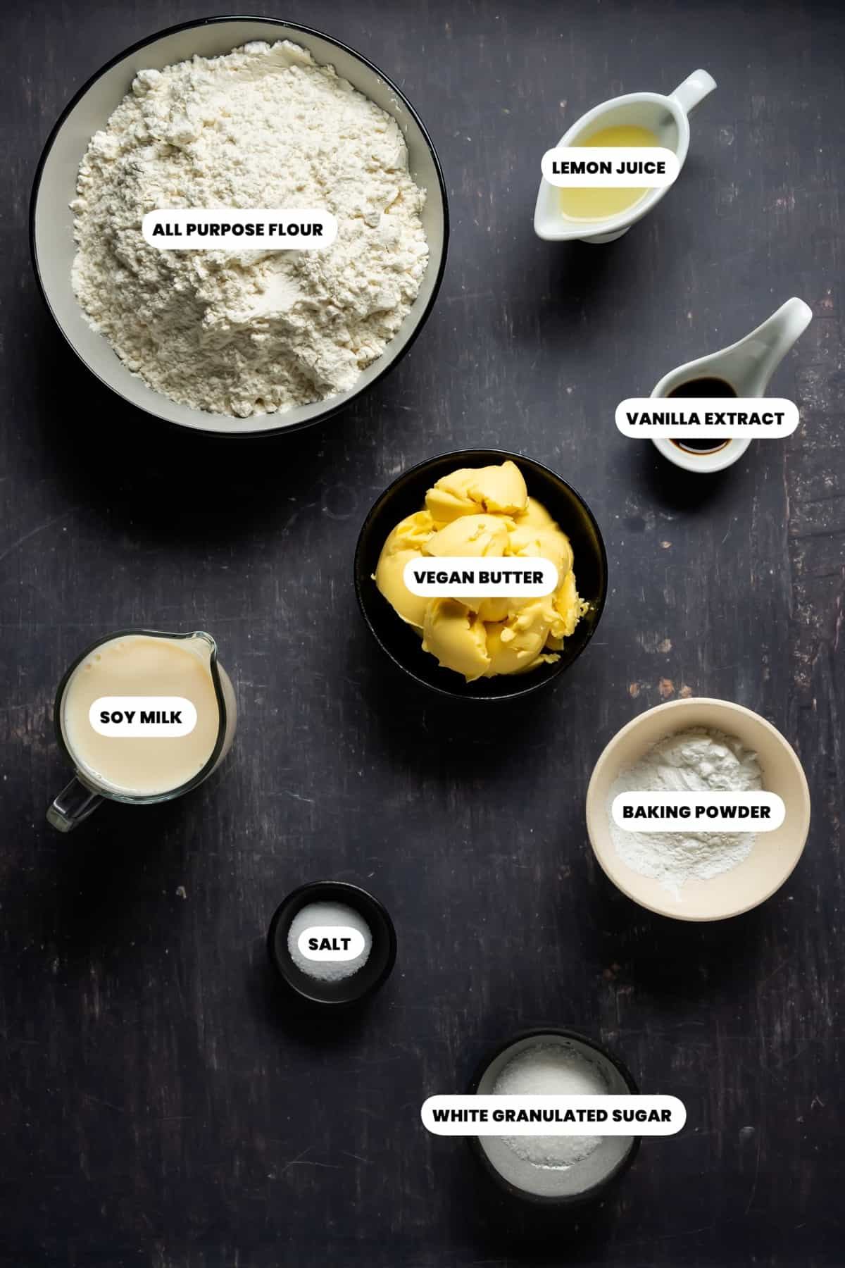 Photo of the ingredients needed to make vegan biscuits