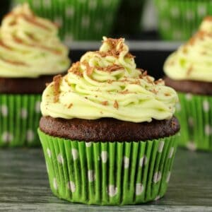 Vegan chocolate mint cupcakes category image St Patrick's Day