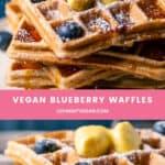 Vegan Blueberry Waffles