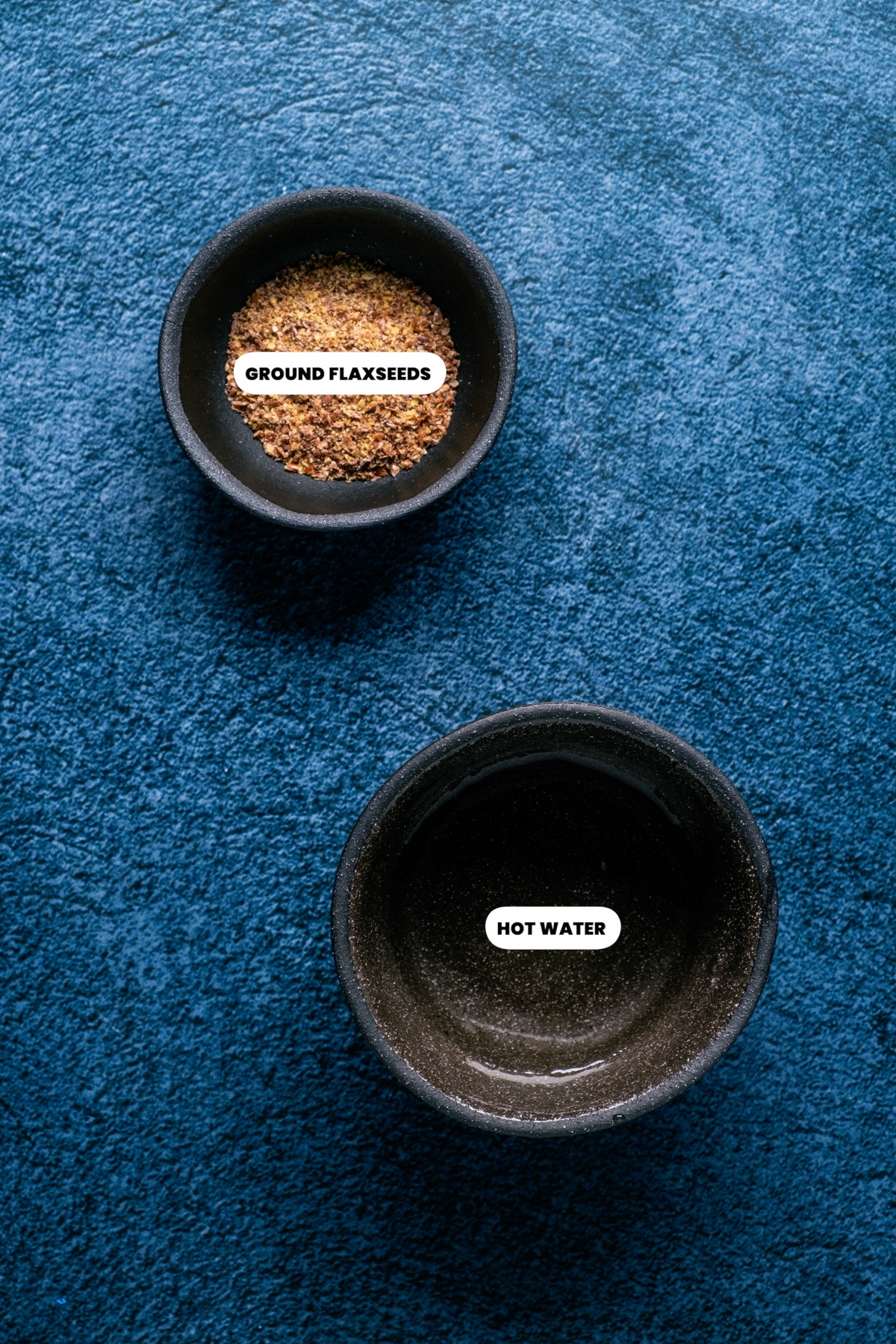 Photo of the ingredients needed to make a flax egg