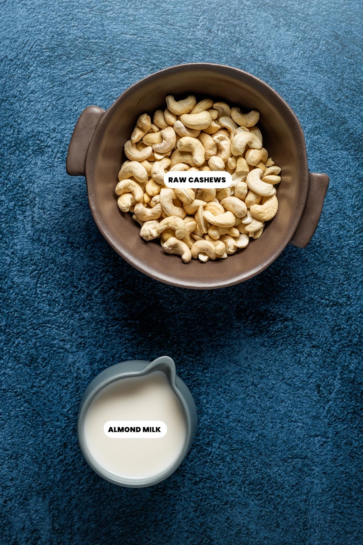 Photo of the ingredients needed to make vegan heavy cream.